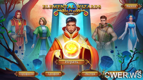 скриншот игры Solitaire Elemental Wizards