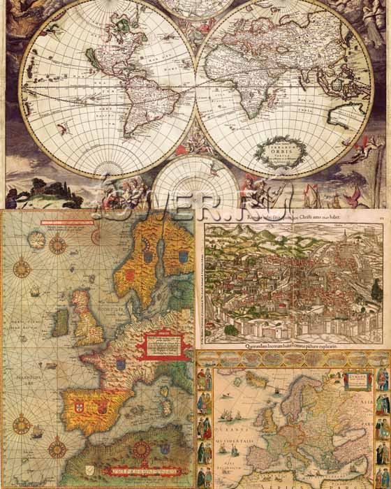 Antique Maps Illustrations